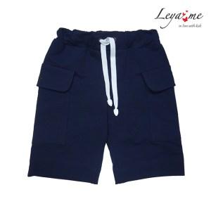 Шорты темно-синие с накладными карманами на мальчика