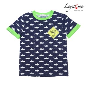 Детская футболка для мальчика с принтом danger sharks