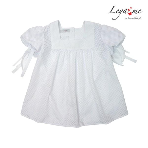 Летняя белая детская блузка для девочки