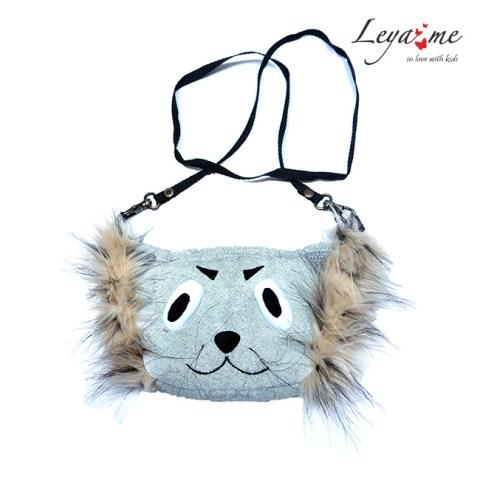 """Кожаная сумка для девочки """"Кот"""""""