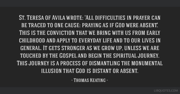Image result for thomas keating quotes