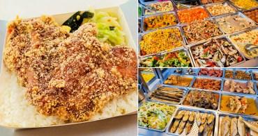 【台南美食】主餐配菜共有40幾款可選擇|主餐有魚有肉也可雙主菜|比手掌大的雞排便當|內用湯品飲料喝到飽~~嘉嘉健康美食