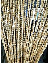 rideau de porte en bambou peint