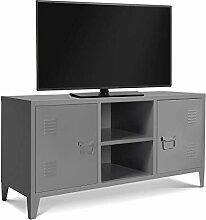 long meuble tv industriel comparer