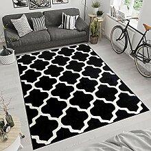 tapis salon noir et blanc comparer
