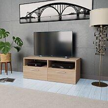 meuble tv bas en chene comparer les