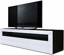 meuble tv bas noir mat comparer les