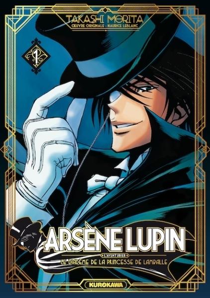 Couverture Arsène Lupin, L'aventurier, tome 1 : Le diadème de la princesse de Lamballe