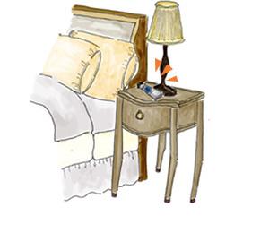 枕もとに置いて、おやすみ前の美容保湿。