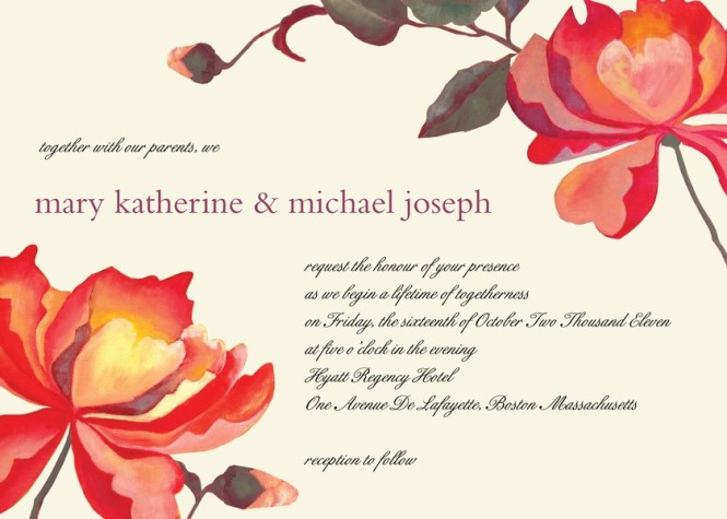 Rustic Wedding Invitations Mason Jar Blush Peony