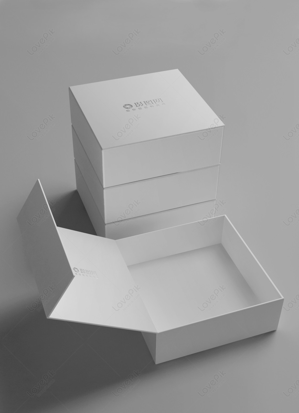 Download White gift box packaging mockup template image_picture ...