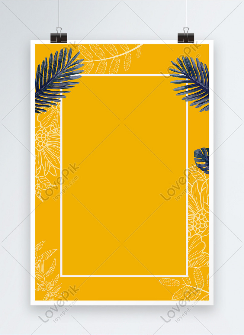 yellow minimalistic creative poster