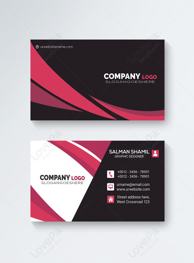 Read full profile it's not about the business cards. Black And Pink Creative Business Card Template Image Picture Free Download 450033627 Lovepik Com