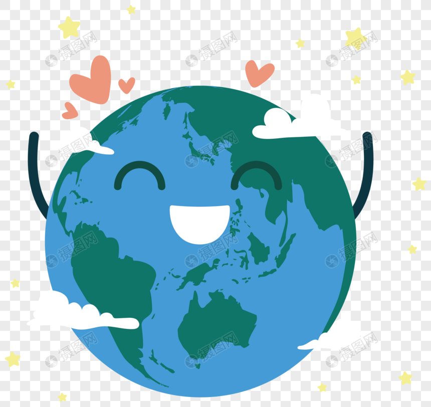 Blue earth hour cartoon hand painted style smile earth vector ma png image_picture free download 400324957_lovepik.com