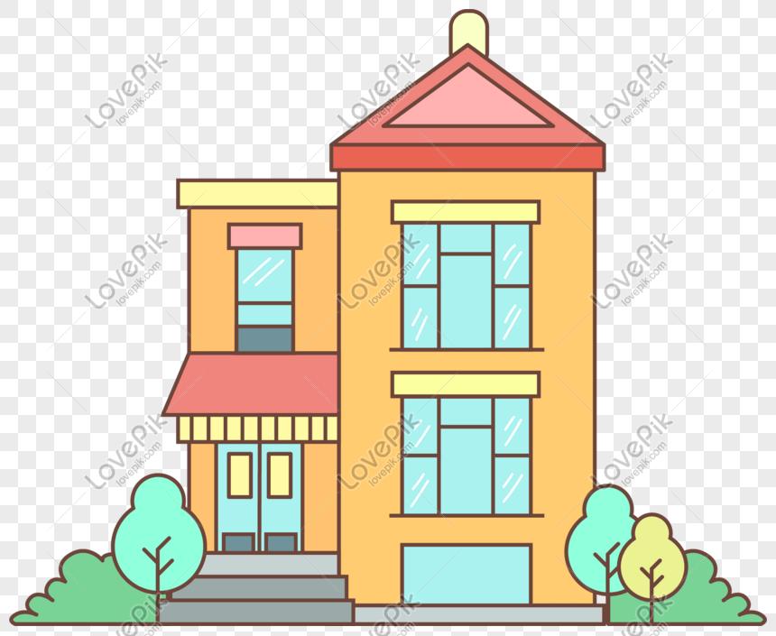 q版溫馨房子AI圖案素材免費下載 - 尺寸2095 × 1706px - 圖形ID401365595 - Lovepik