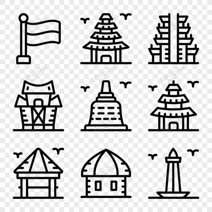 Set Of Indonesian Culture Glyph Icons Vector Png Image Picture Free Download 450059335 Lovepik Com