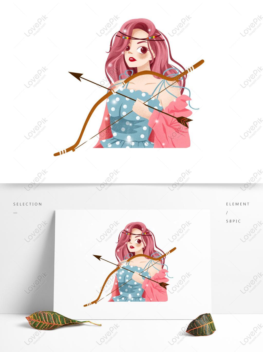 性感霸氣射手座女孩可商用元素PSD美工圖案免費下載-素材分辨率1369 × 1024px - Lovepik ID732422739