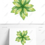 Simple And Fresh Watercolor Plant Decoration Material Psd Images Free Download 1369 1024 Px Lovepik Id 733216509