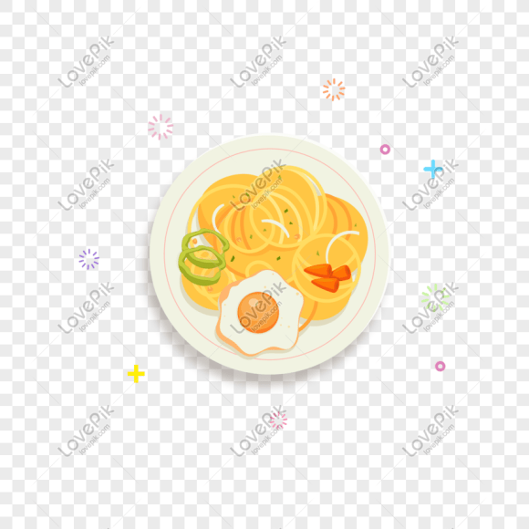 Vector Hand Drawn Cartoon Egg Noodle Png Image Picture Free Download 611559825 Lovepik Com