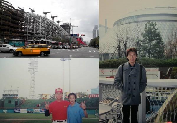 昨天徐展元在臉書貼出照片,語重心長的希望有朝一日能在大巨蛋內播報球賽。(圖擷自徐展元臉書)