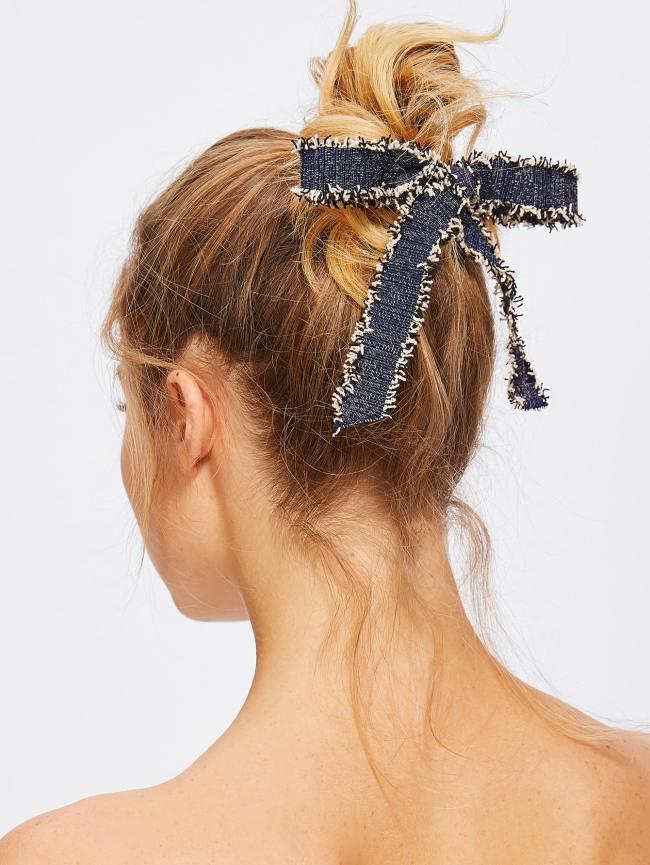 SheIn Fray Trim Bow Hair Clip