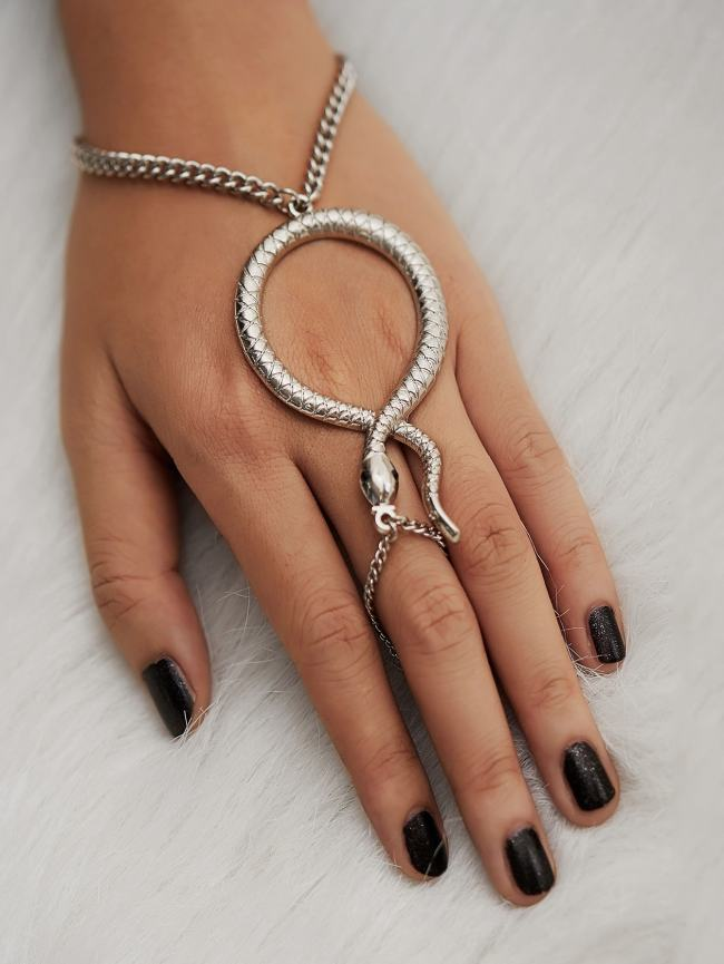 SheIn Snake Design Toe Ring Chain Bracelet