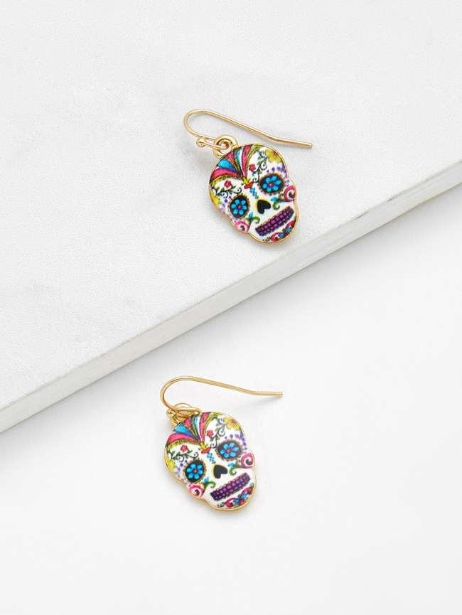 SheIn Skeleton Design Drop Earrings