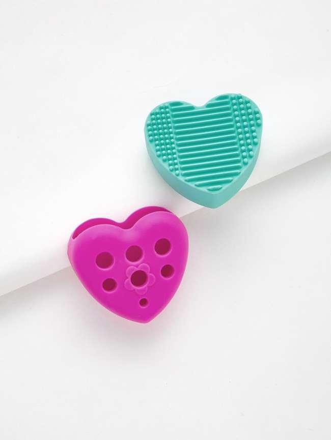 SheIn Heart Shaped Makeup Brush Cleaner 2pcs