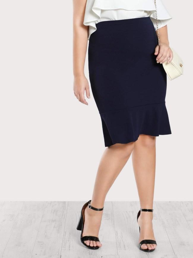 SheIn Ruffle Hem Skirt