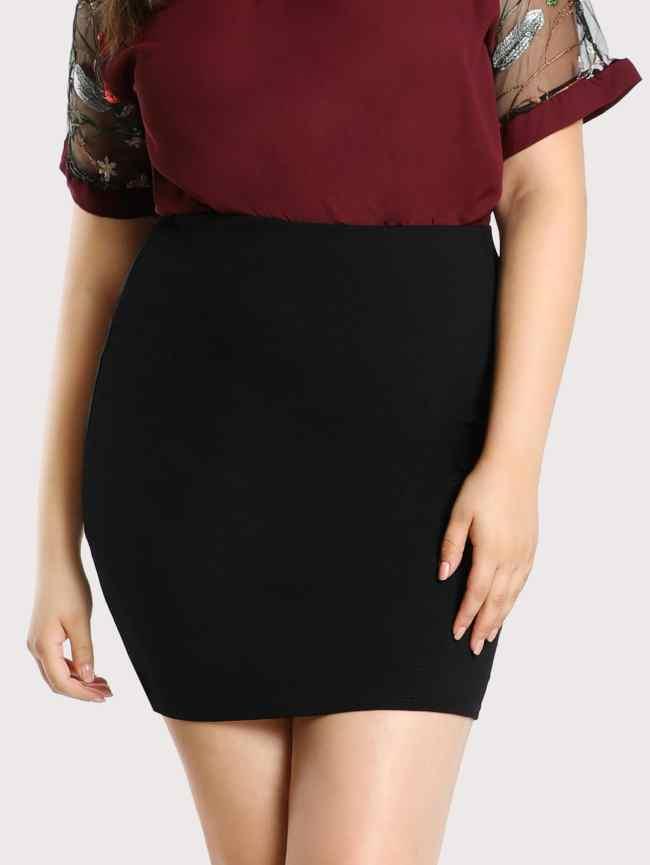 SheIn Elastic Waist Jersey Skirt
