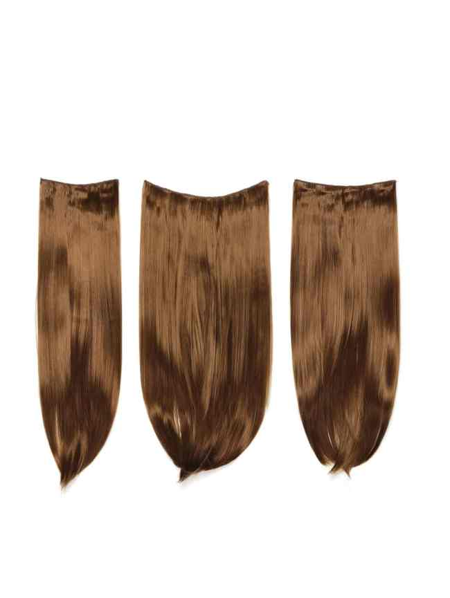 SheIn Golden Brown Clip In Straight Hair Extension 3pcs