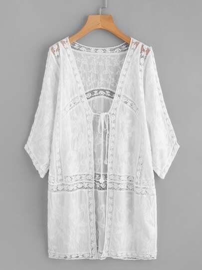 Kimono avec lacet avant