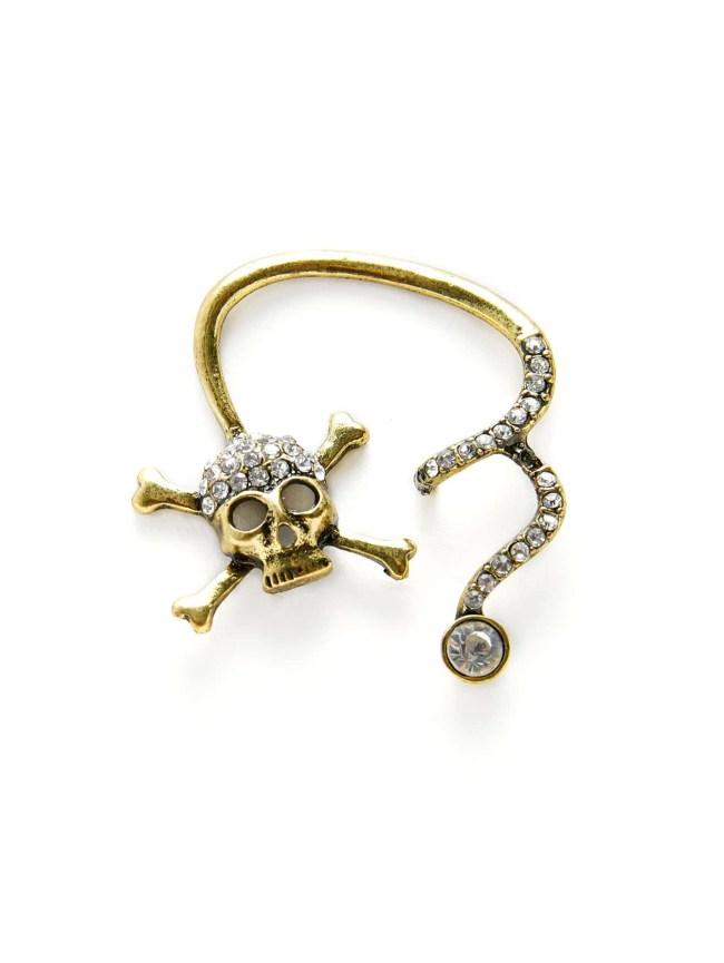 SheIn Rhinestone Skeleton Design Ear Crawler 1pc