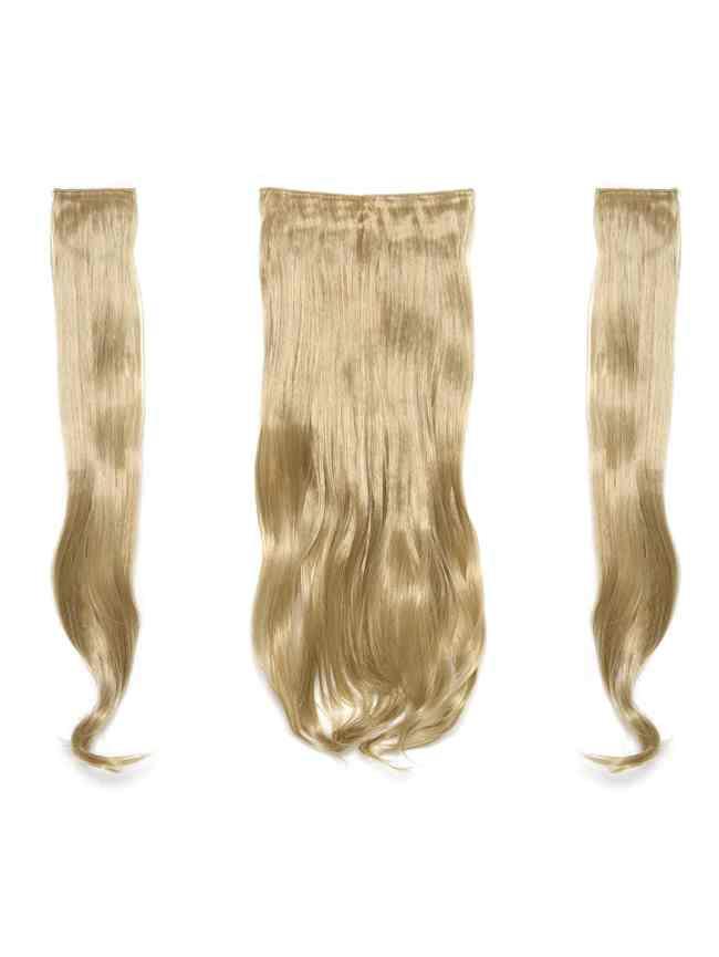 SheIn Golden Blonde Clip In Soft Wave Hair Extension 3pcs