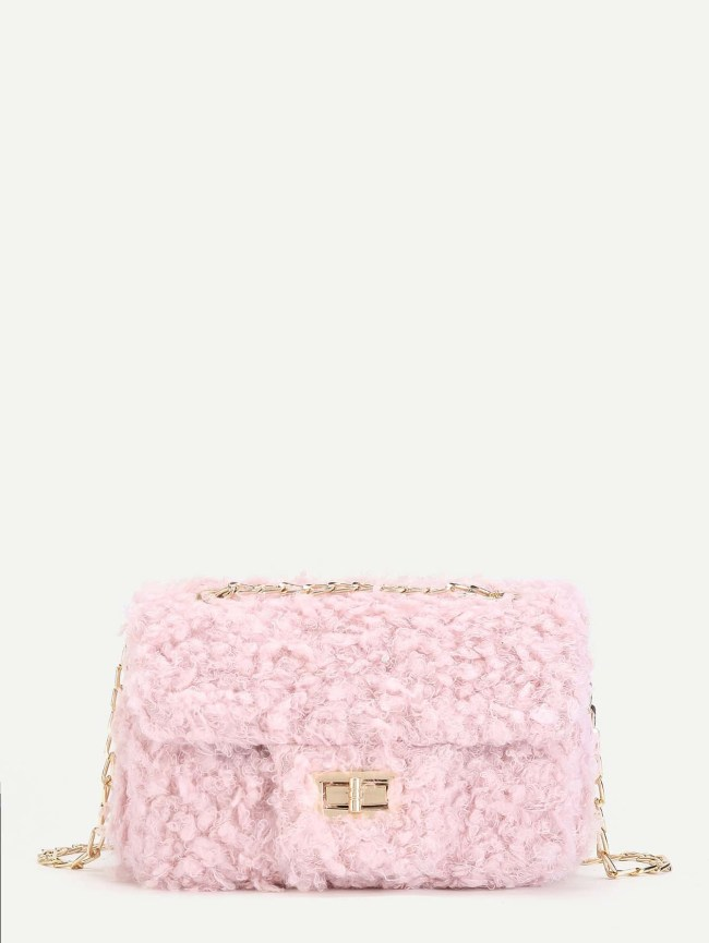 SheIn Faux Fur Crossbody Bag