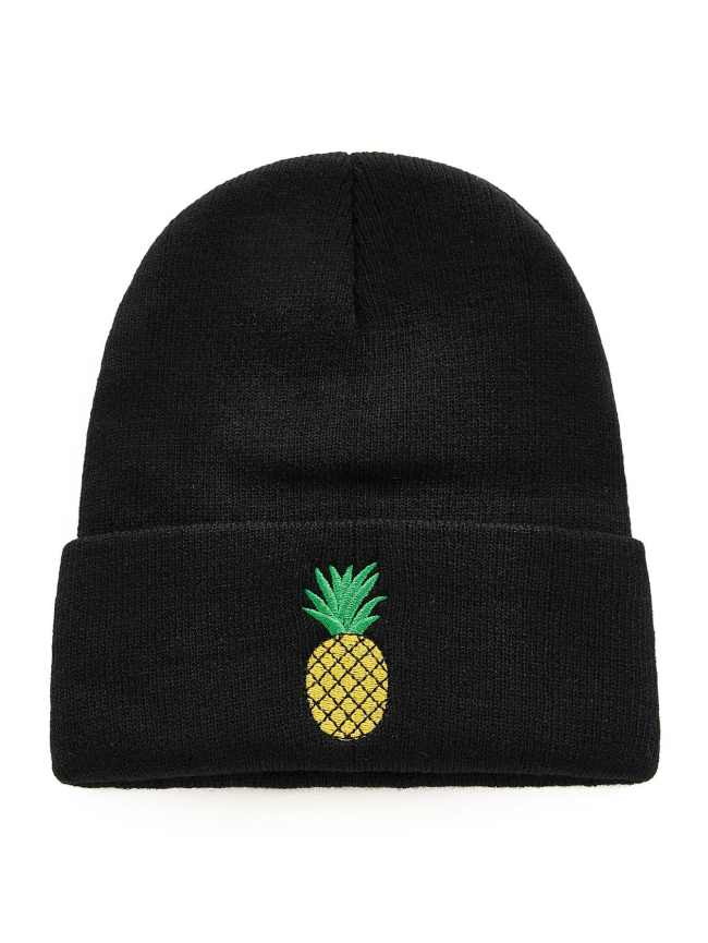 SheIn Embroidered Pineapple Beanie Hat
