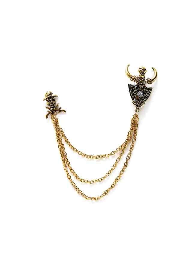 SheIn Skeleton Design Chain Brooch
