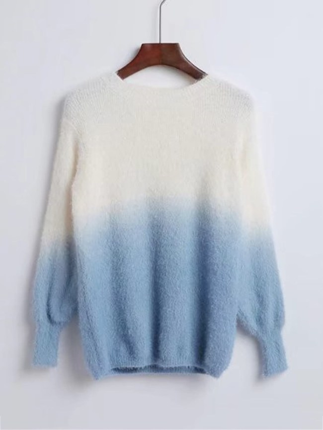 SheIn Ombre Loose Fuzzy Sweater