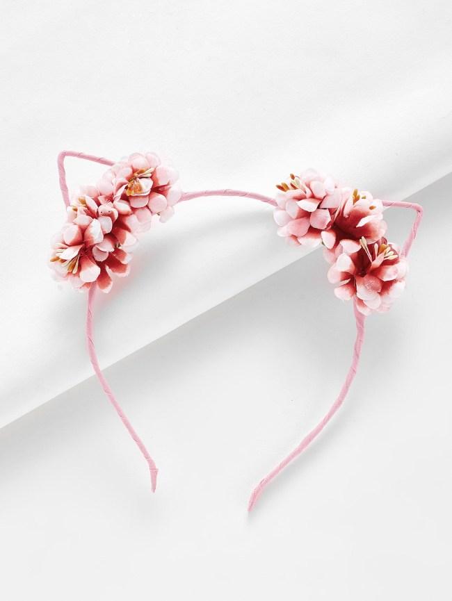 SheIn Cat Ear Flower Design Headband