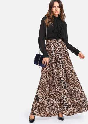 Shein Leopard Skirt