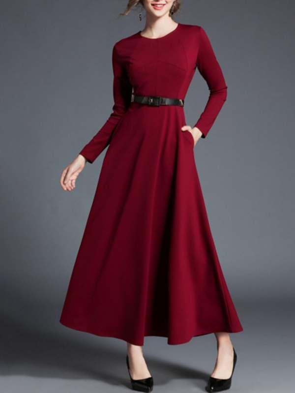 Модное платье с поясом | SHEIN