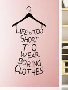 Slogan Dress Wall Decal