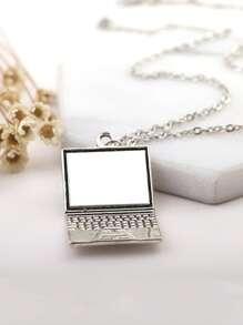 Laptop Shaped Pendant Necklace