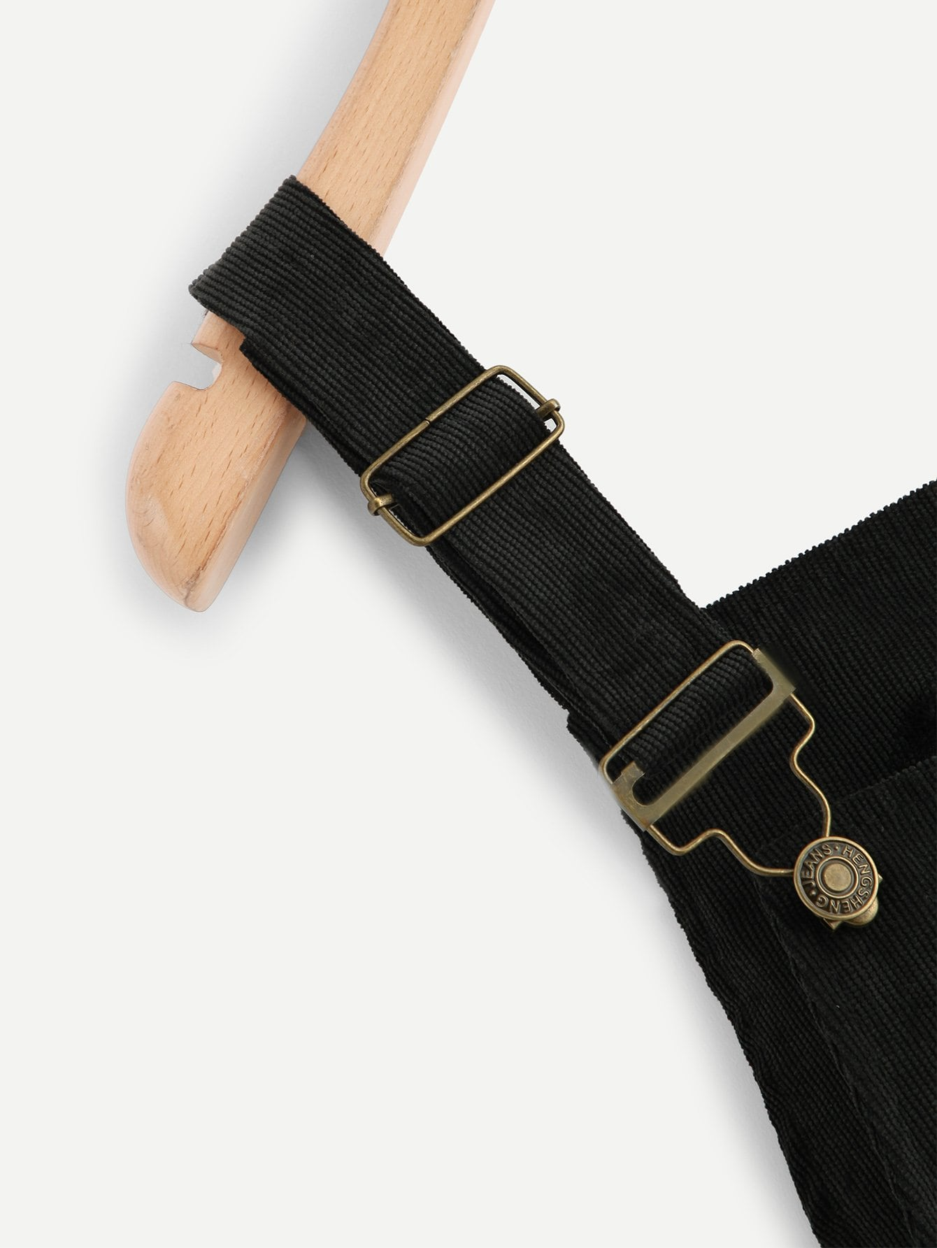 Plus Pocket Front Corduroy Pinafore Dress