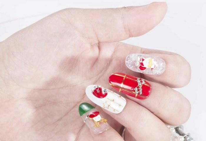 Uñas Falsas Fair Isle Al Azar De Navidad 1 Paquete Romwe