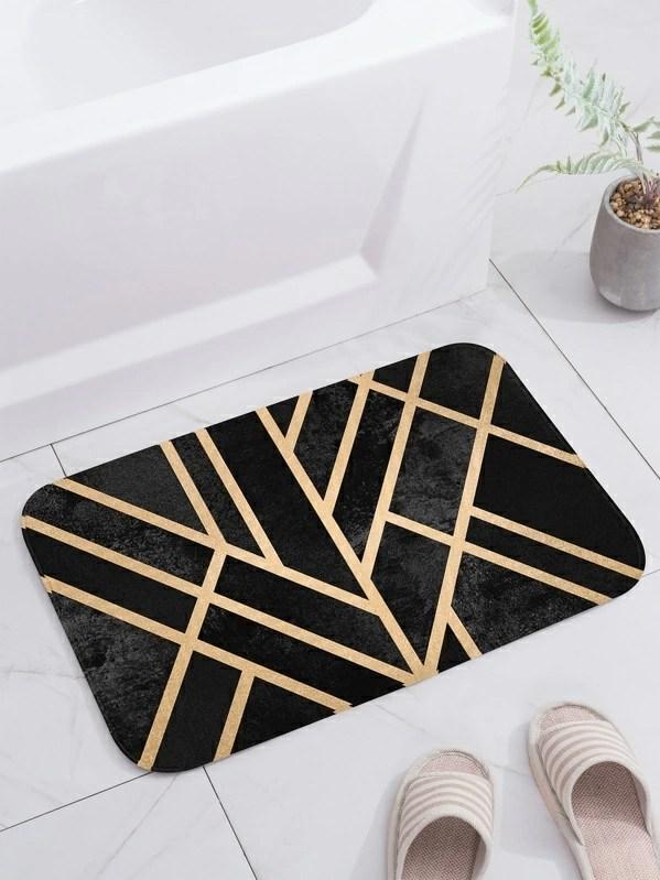 tapis a motif geometrique