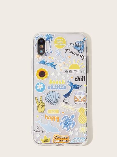 Beach Pattern iPhone Case Positivity Tropical Vacation Pretty