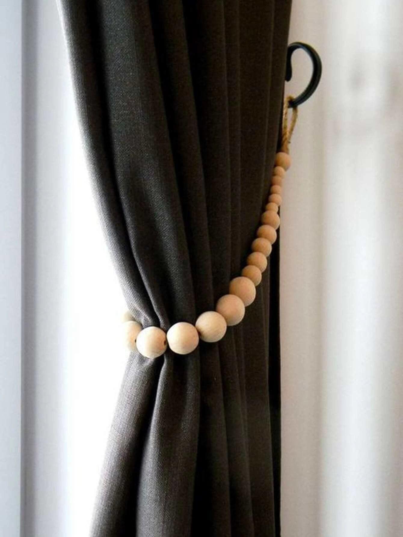 attache de rideau en perles
