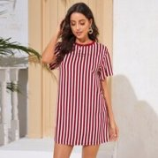 Letter Graphic Striped Dress