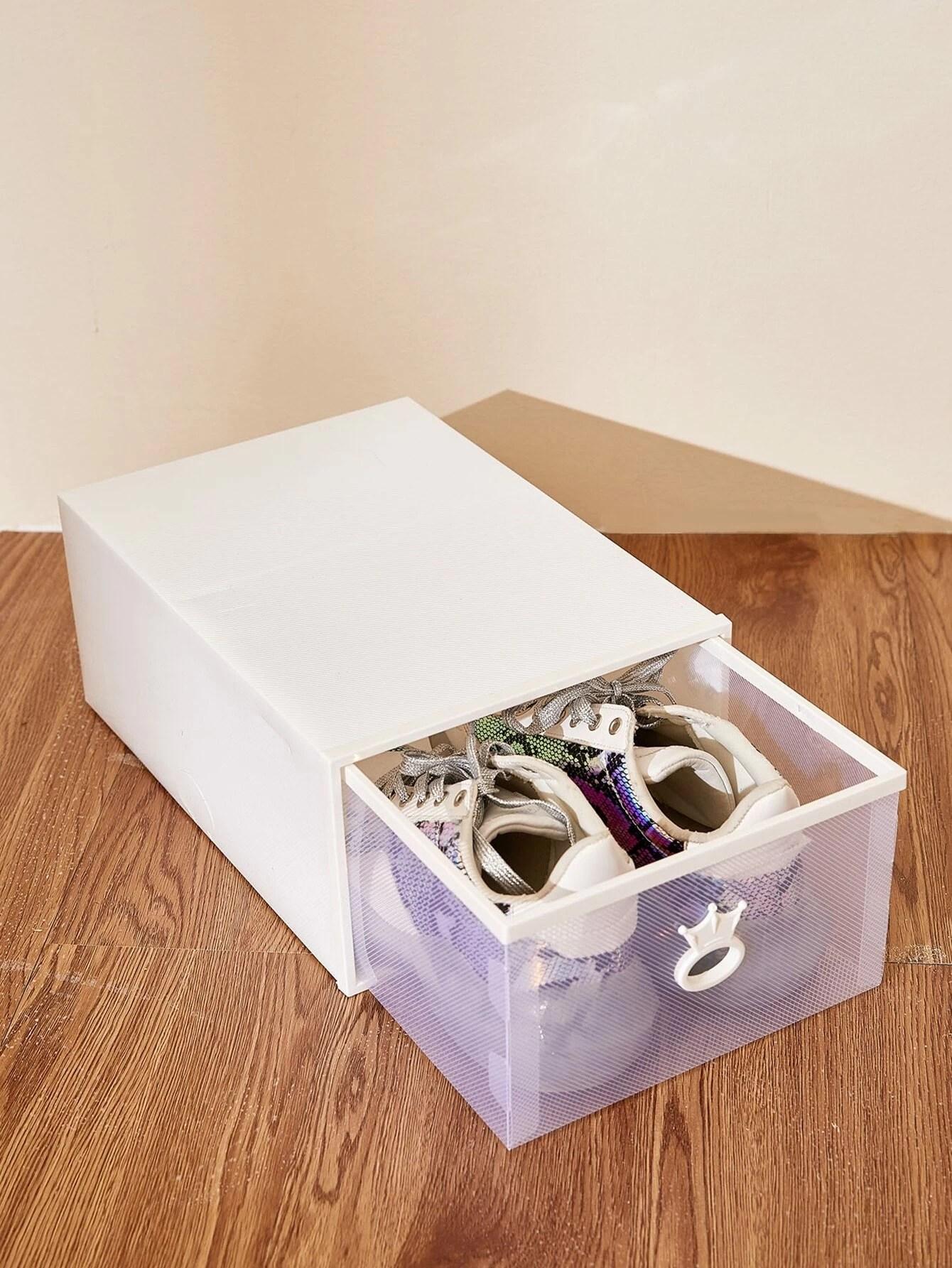 1 piece boite de rangement pour chaussures empilable